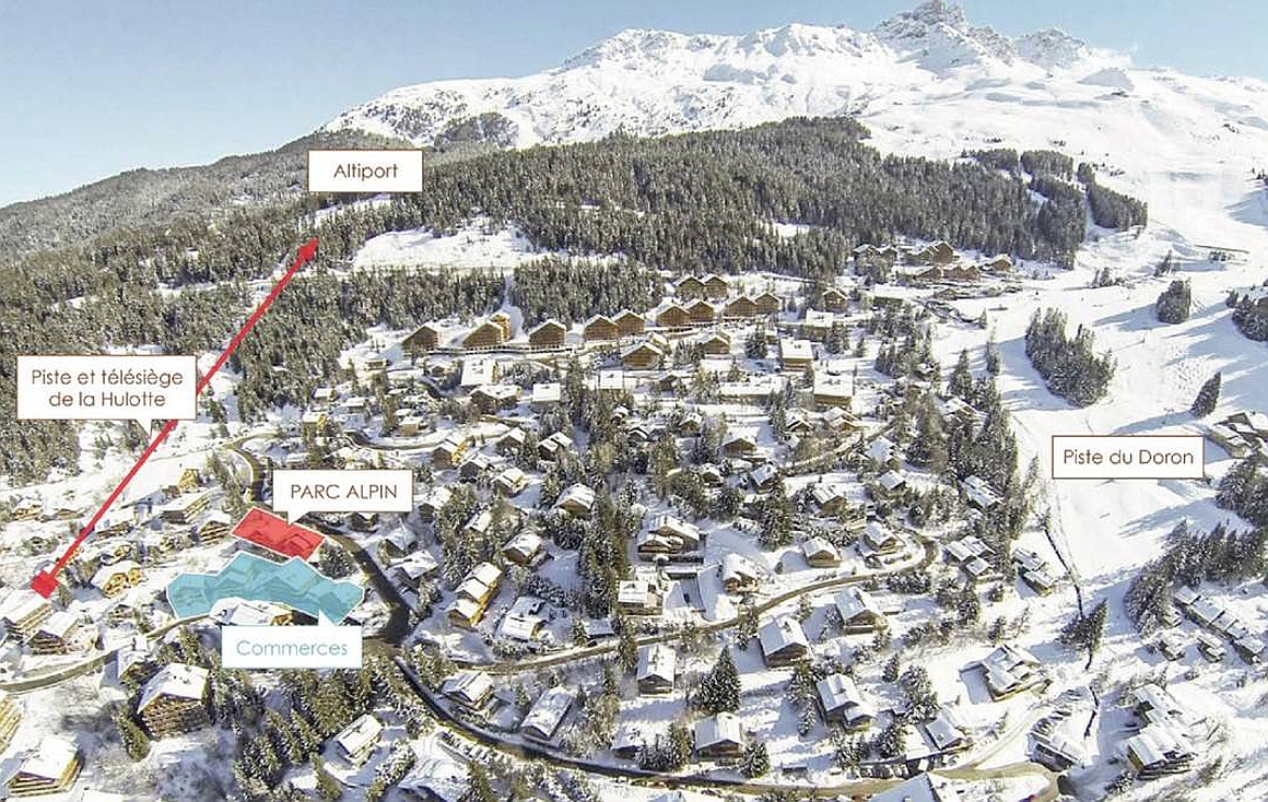Location for Meribel apartments