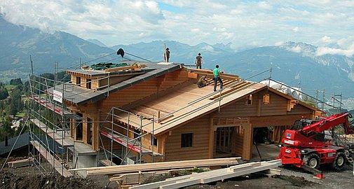 Previous chalets under construction