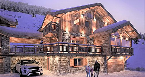 The project of chalets in Les Deux Alpes