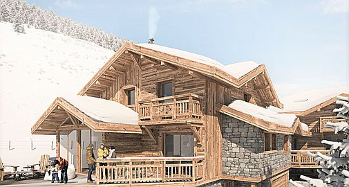 The project of two chalets for sale with planning permission
