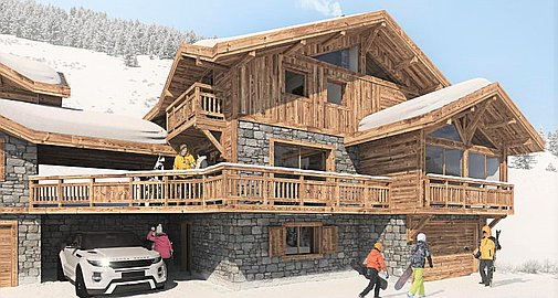 The project of two chalets with planning permission in Les Deux Alpes