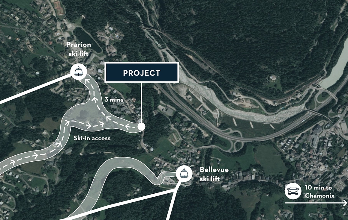 The project location in Les Houches