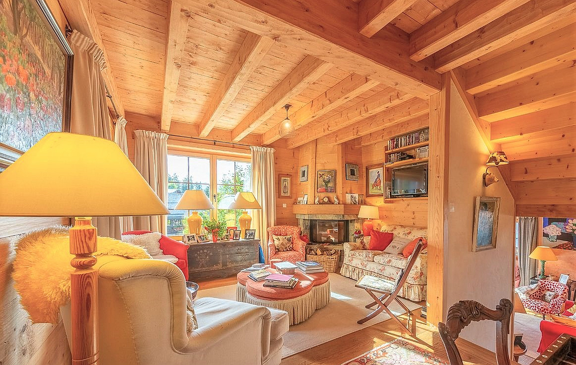 Living areas inside the chalet