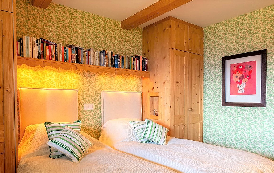 The chalet bedrooms