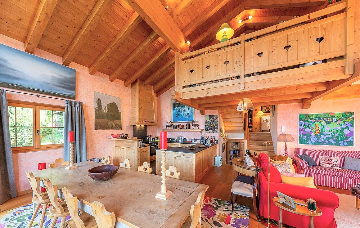 The chalet interior