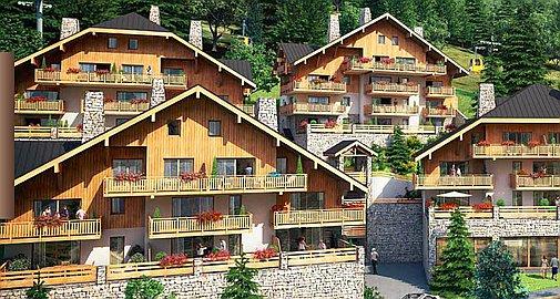 Residences in summer