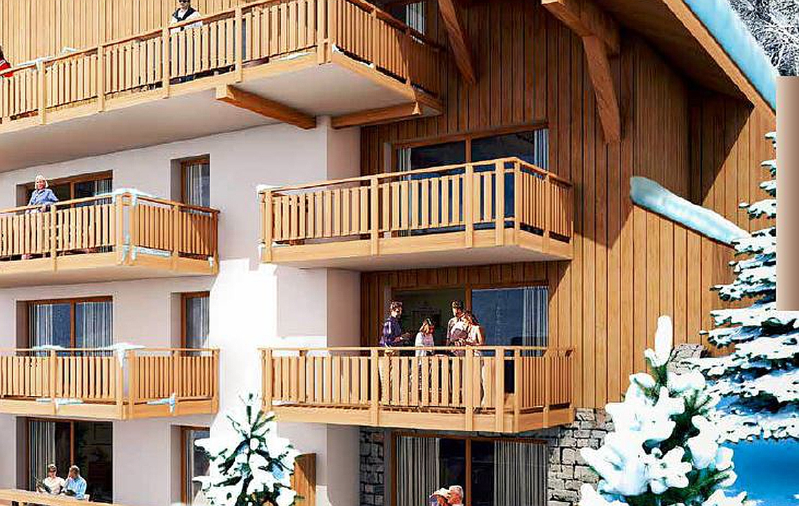 Apartments just 2 minutes walk to ski lifts