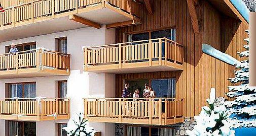 Apartments just 2 minutes walk to ski lifts