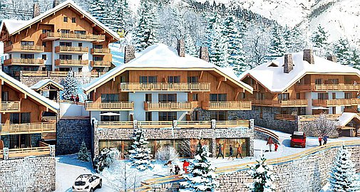 Brand new apartments for sale in Alpe d'Huez ski domain