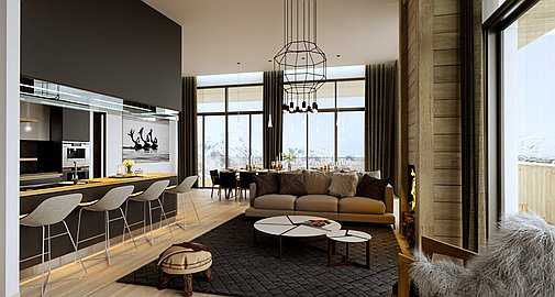 Example Interior of Les Arcs apartments