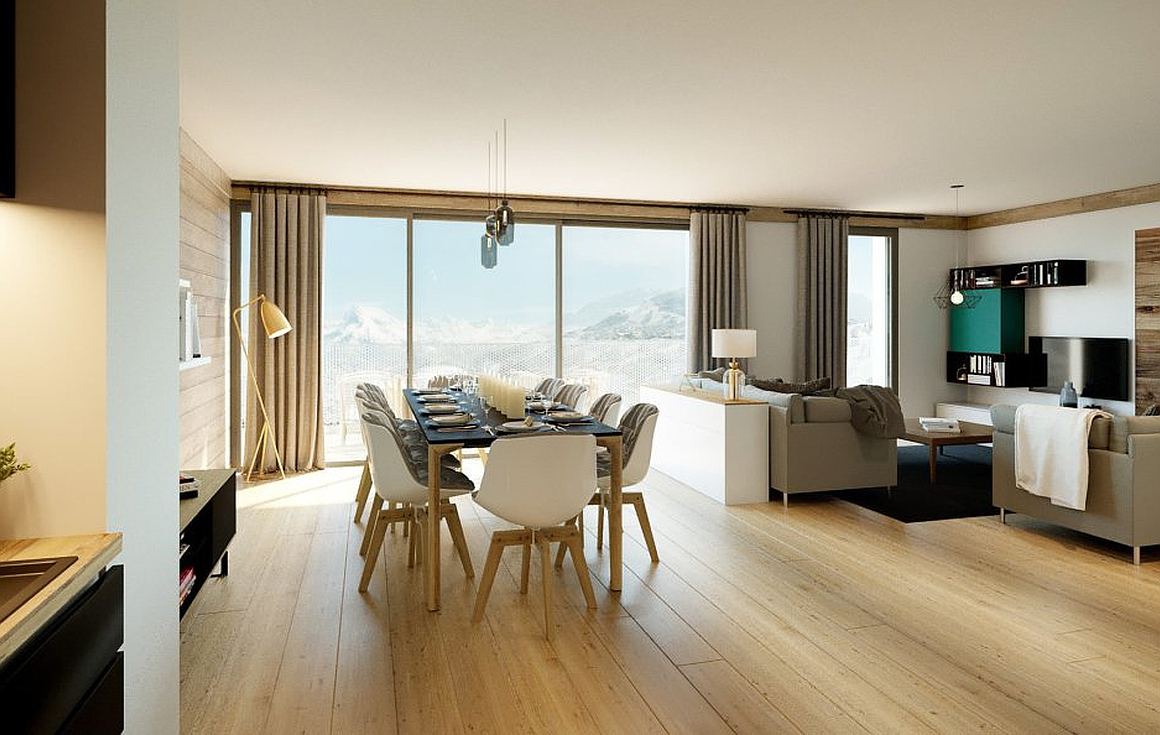 Interior examples of Les Arcs apartments for sale