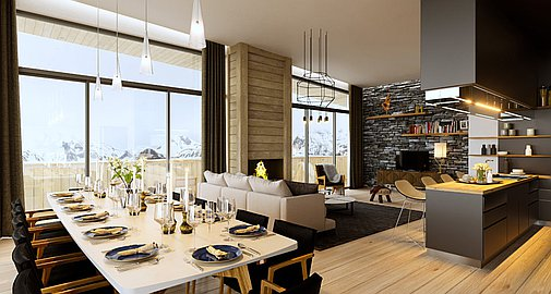 Example interiors of apartments