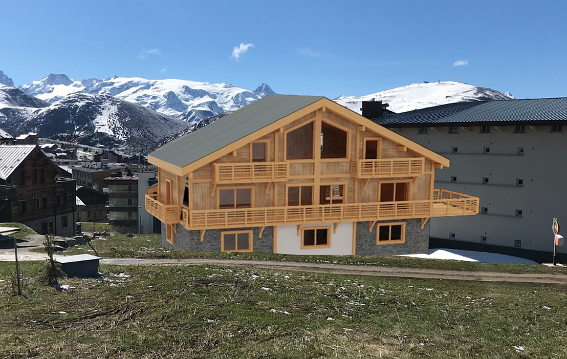 The future Alpe d'Huez chalet for sale