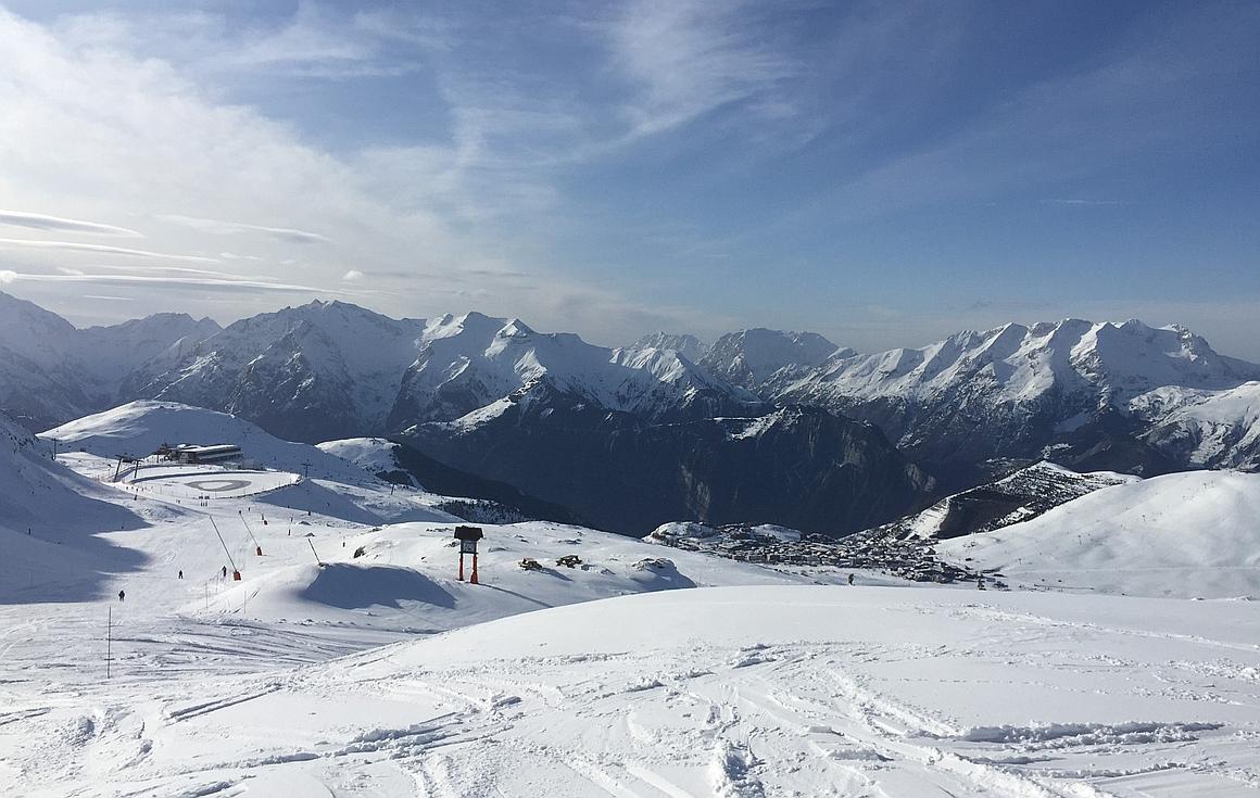 The ski slopes of Alpe d'Huez
