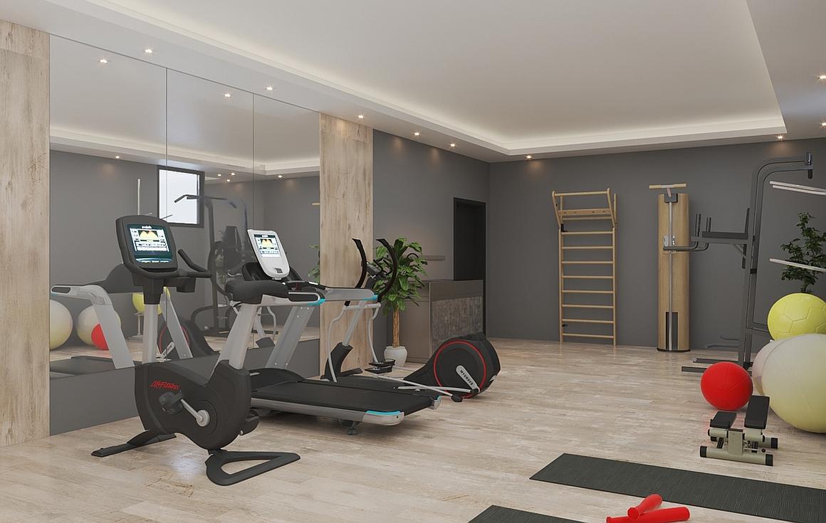 Communal fitness room
