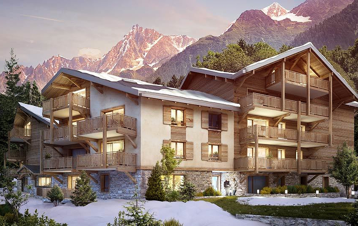 The apartments for sale in Les Houches