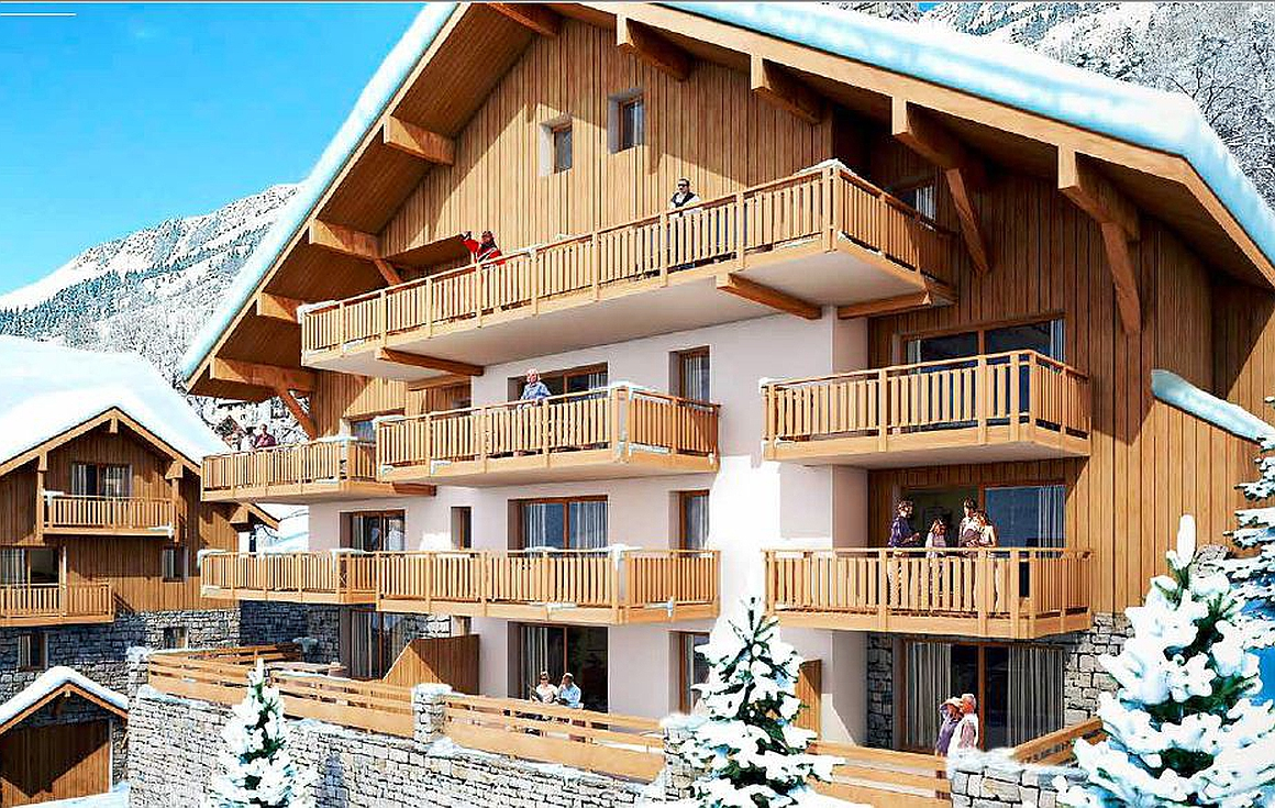 Interior of Vaujany apartments for sale