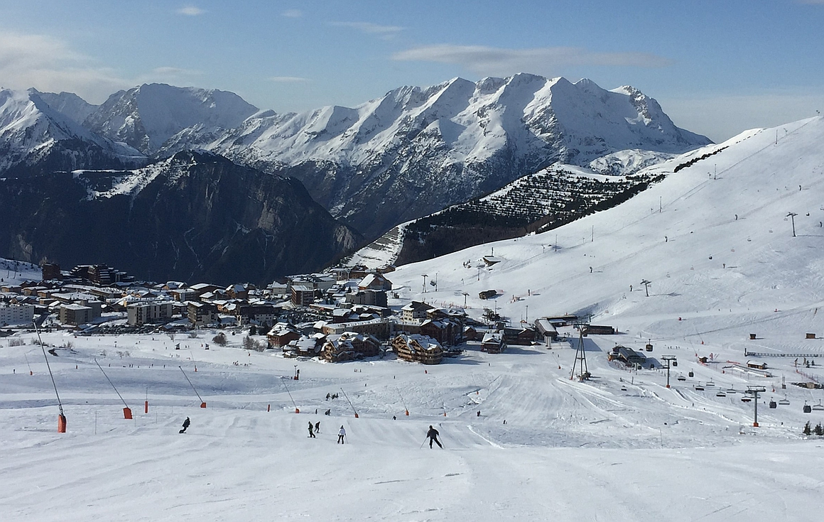 The resort of Alpe d'Huez