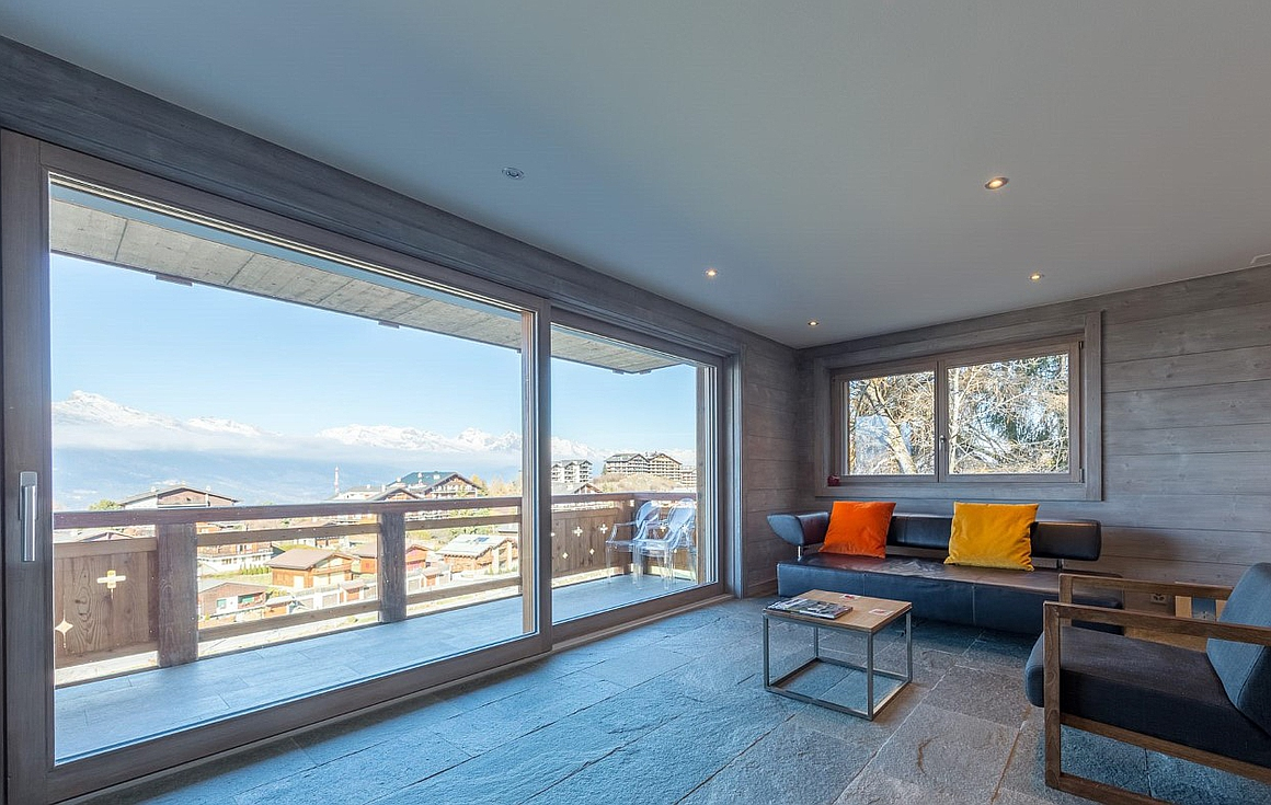 Stunning views from this fantastic apartment for sale in Nendaz