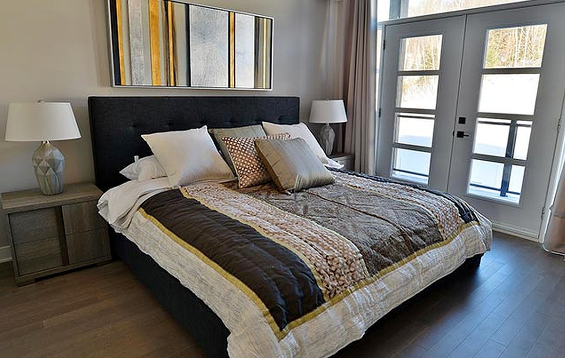 Spacious finished bedrooms by developer in another development