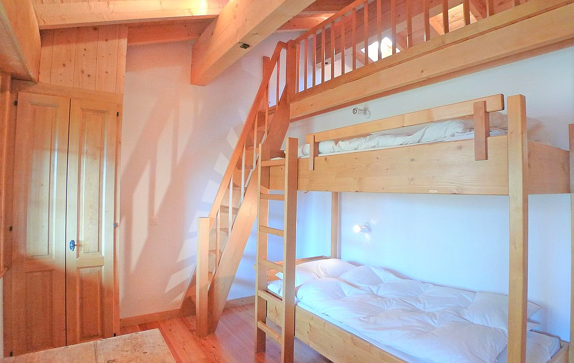 The bedroom with Mezzanine