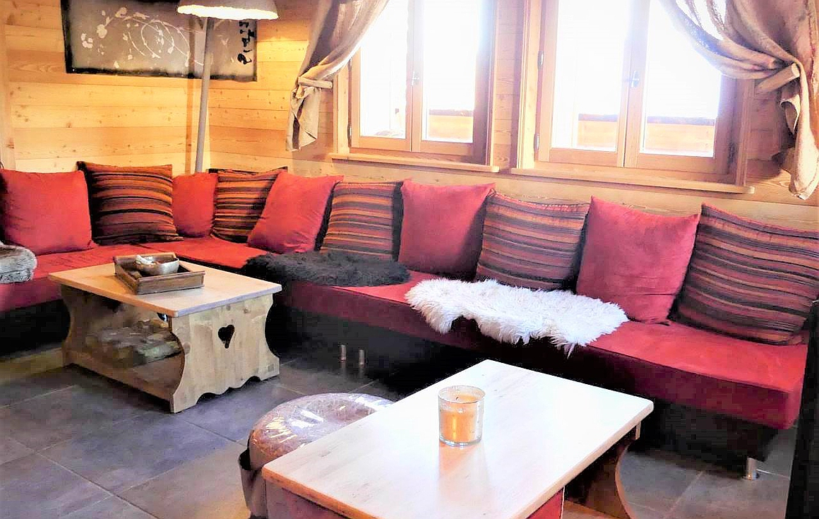 Living area within chalet