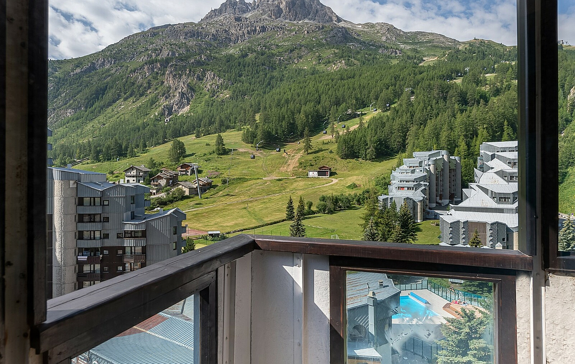 View from the apartment for sale in Val d'Isere