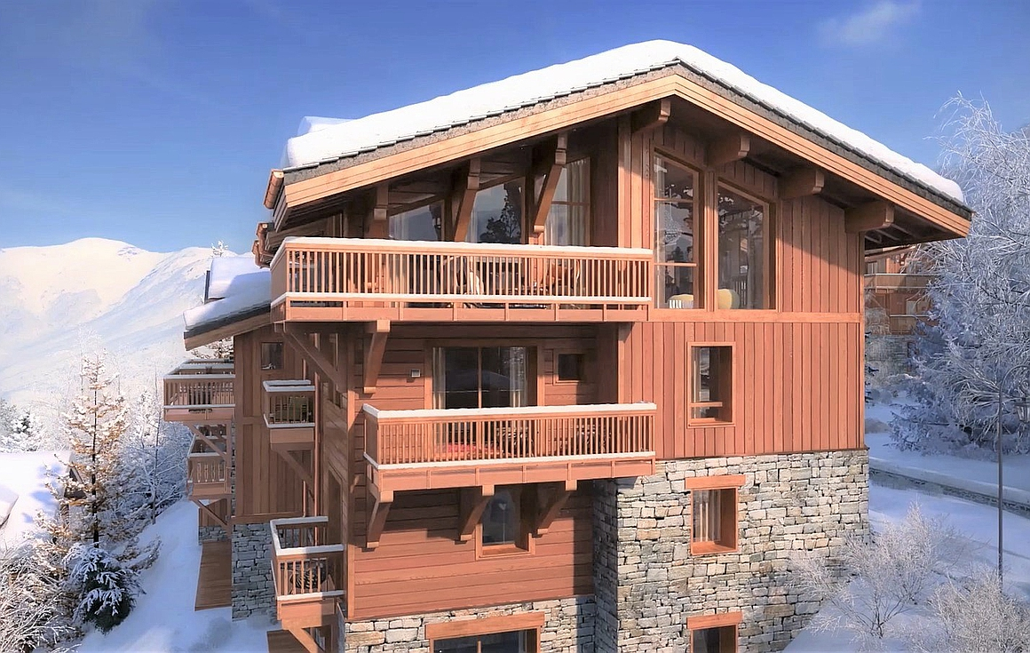 The luxury chalets for sale in Courchevel