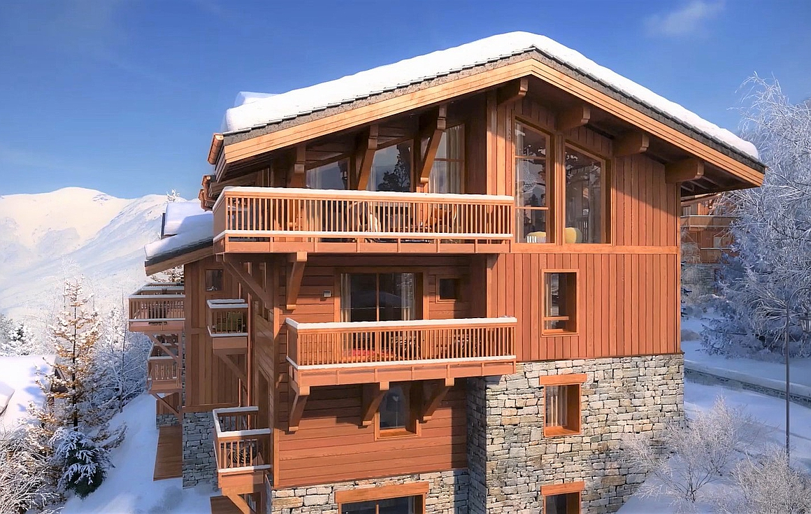 The outstanding project of chalets for sale in Courchevel