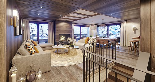 Interiors within residences
