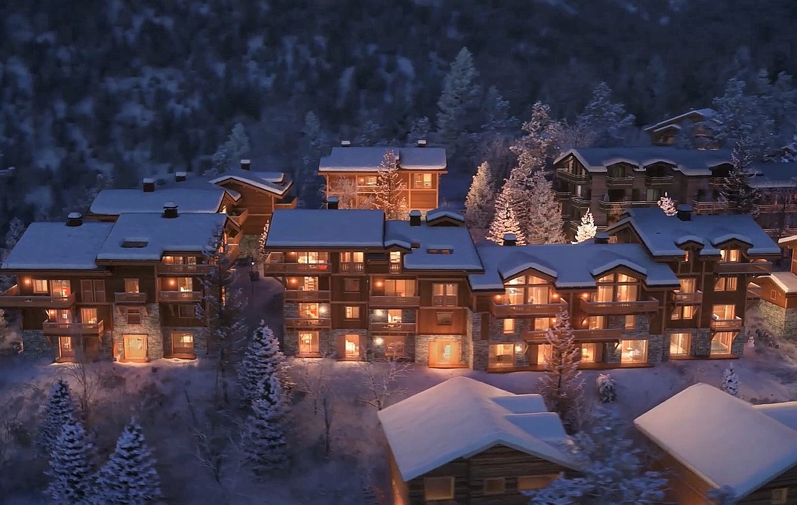 The chalets in Courchevel