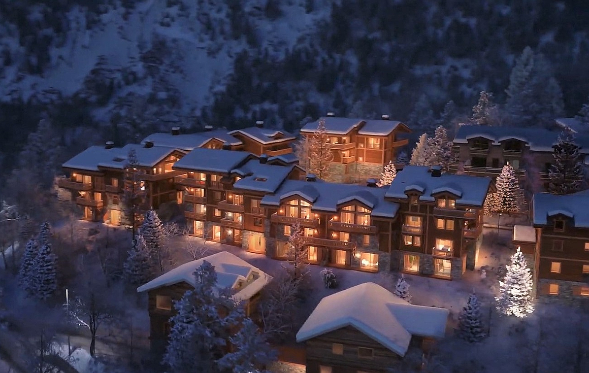 The Courchevel chalets