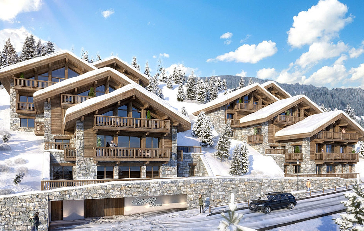 Exterior visual of the apartments for sale in Meribel
