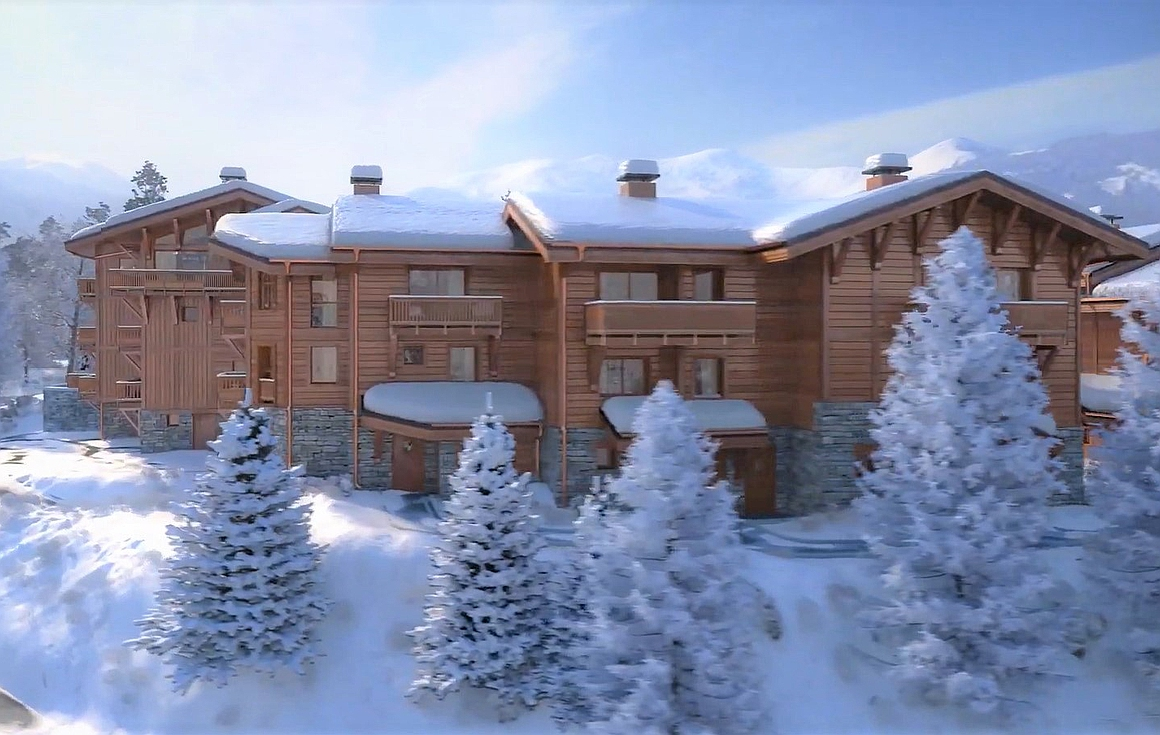 The hamlet of chalets in Courchevel