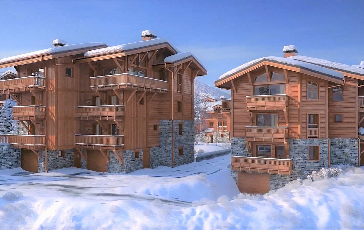 The outstanding project of apartments for sale in Courchevel