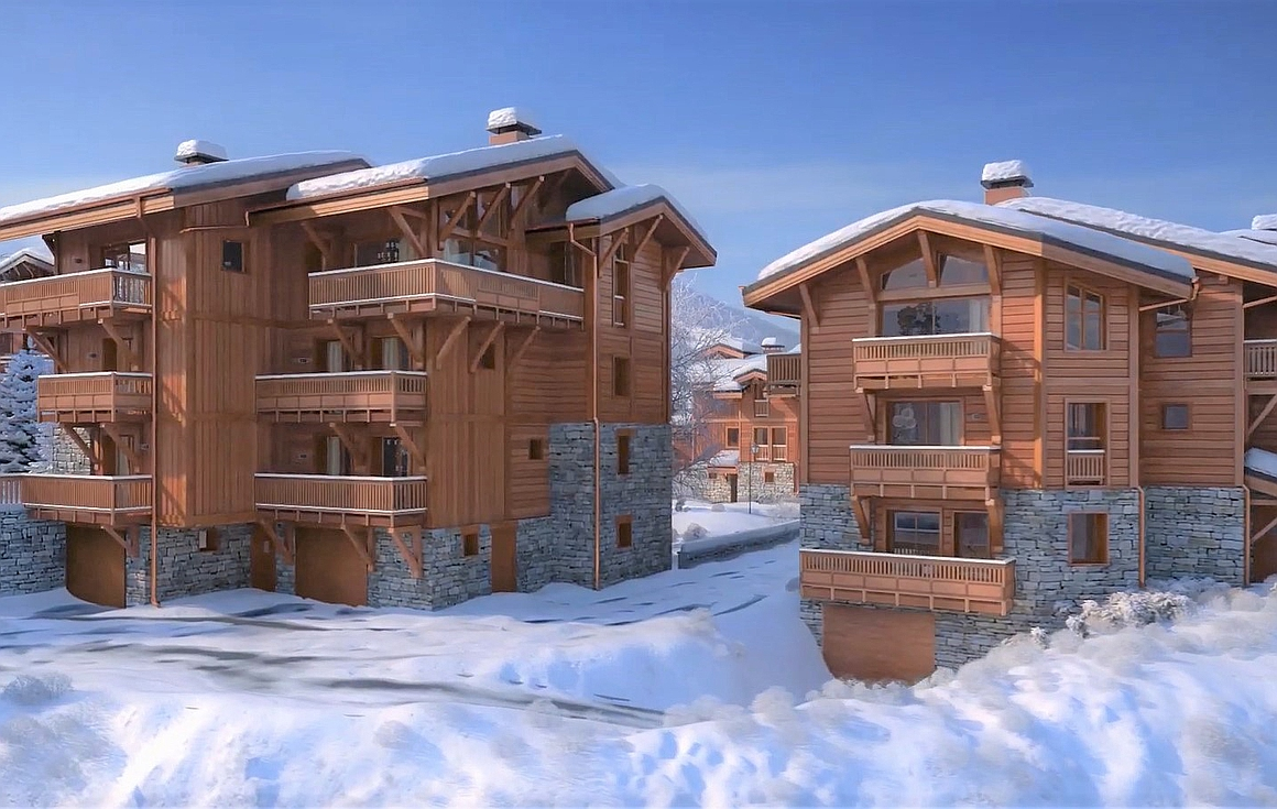 The Courchevel ski chalets for sale