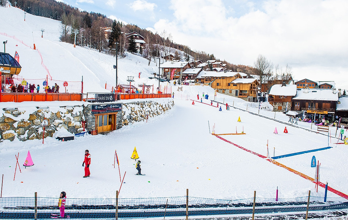Plagne Montalbert skiing