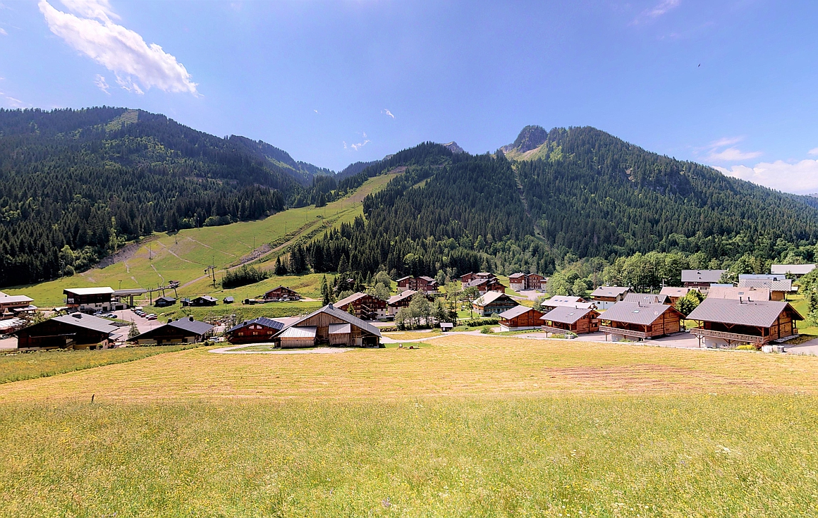 The fantastic views from the Chatel chalets