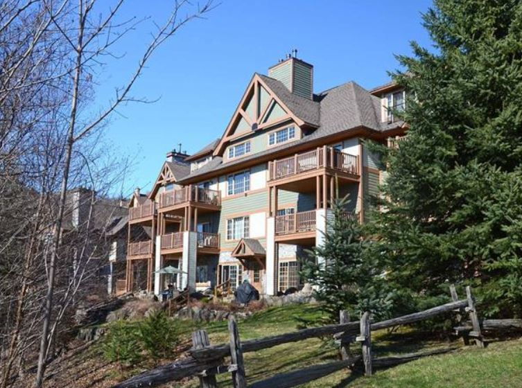 Exterior of condo for sale in Mont Tremblant