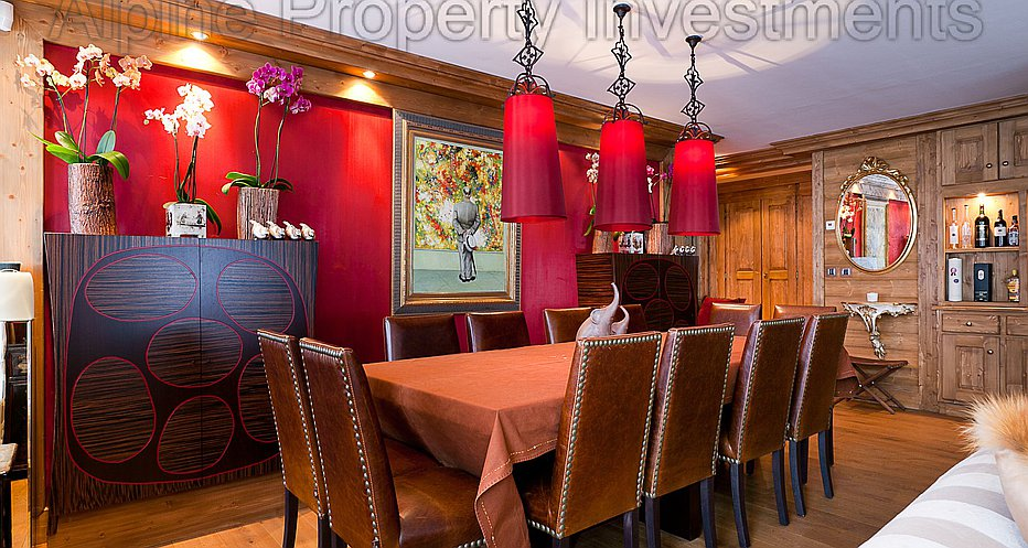 Elegant dining with seating for 12